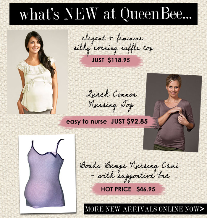 whats new at queenbee maternity