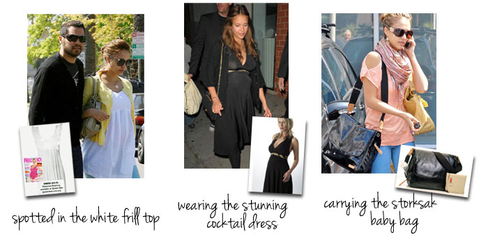 maternity style with jessica alba