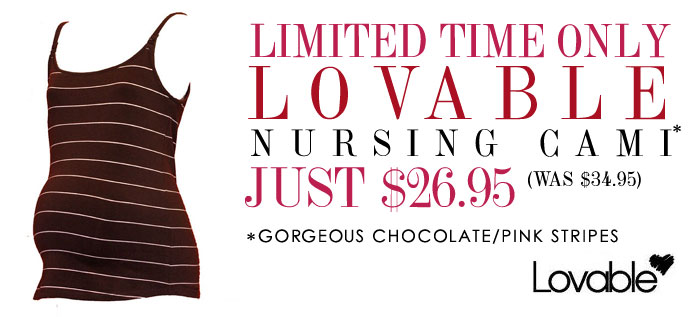 chocolate/pink stripe lovable only $26.95 for a limited time only