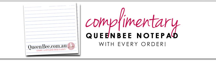 complimentary queen bee notepad with every order