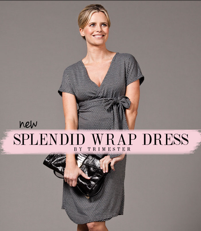 splendid wrap dress by trimester