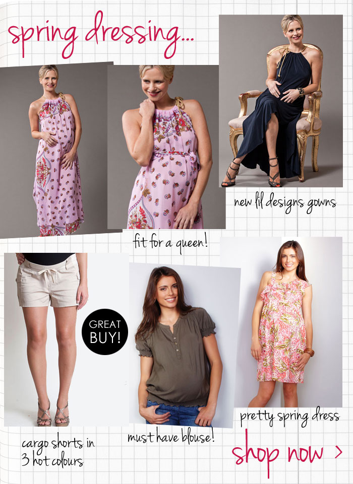 spring dressing at queen bee maternity